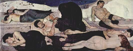 модерн_герм_югенд_Ходлер Ночь 1890