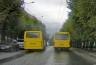 На Героїв Майдану водії маршруток влаштували перегони (відео)