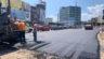 На другій частині проспекту Незалежності почали вкладати нижній шар асфальту (відео)